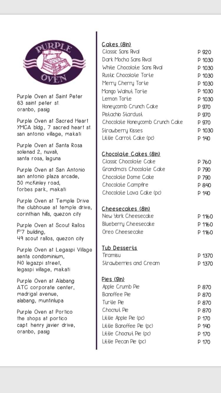 Cupcake Price List Philippines Menu Template Design