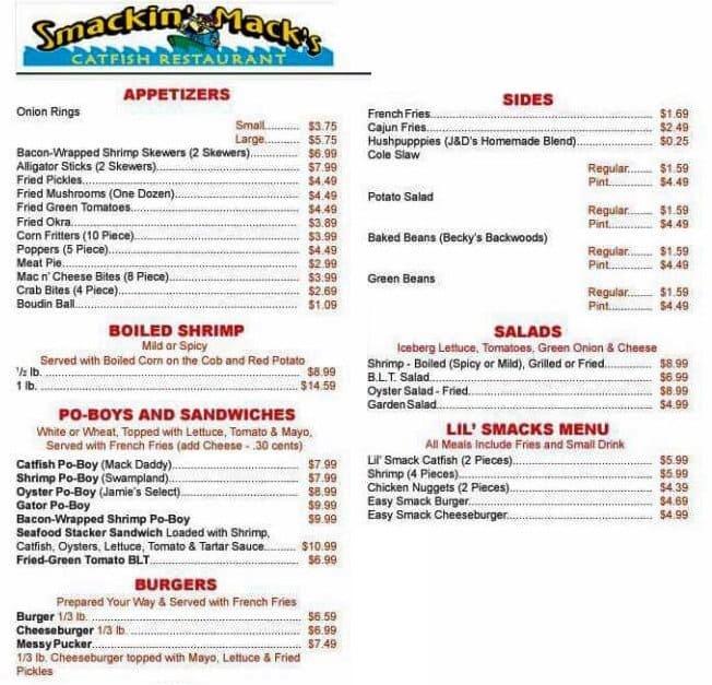 Smackin Mack S Restaurant Alexandria