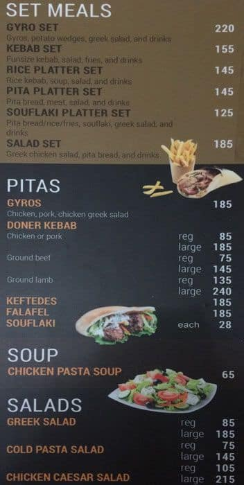 My Greek Taverna, Cebu Business Park Menu