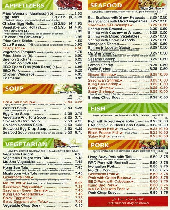 Chinese Kitchen Menu: Jay's Chinese Kitchen Menu