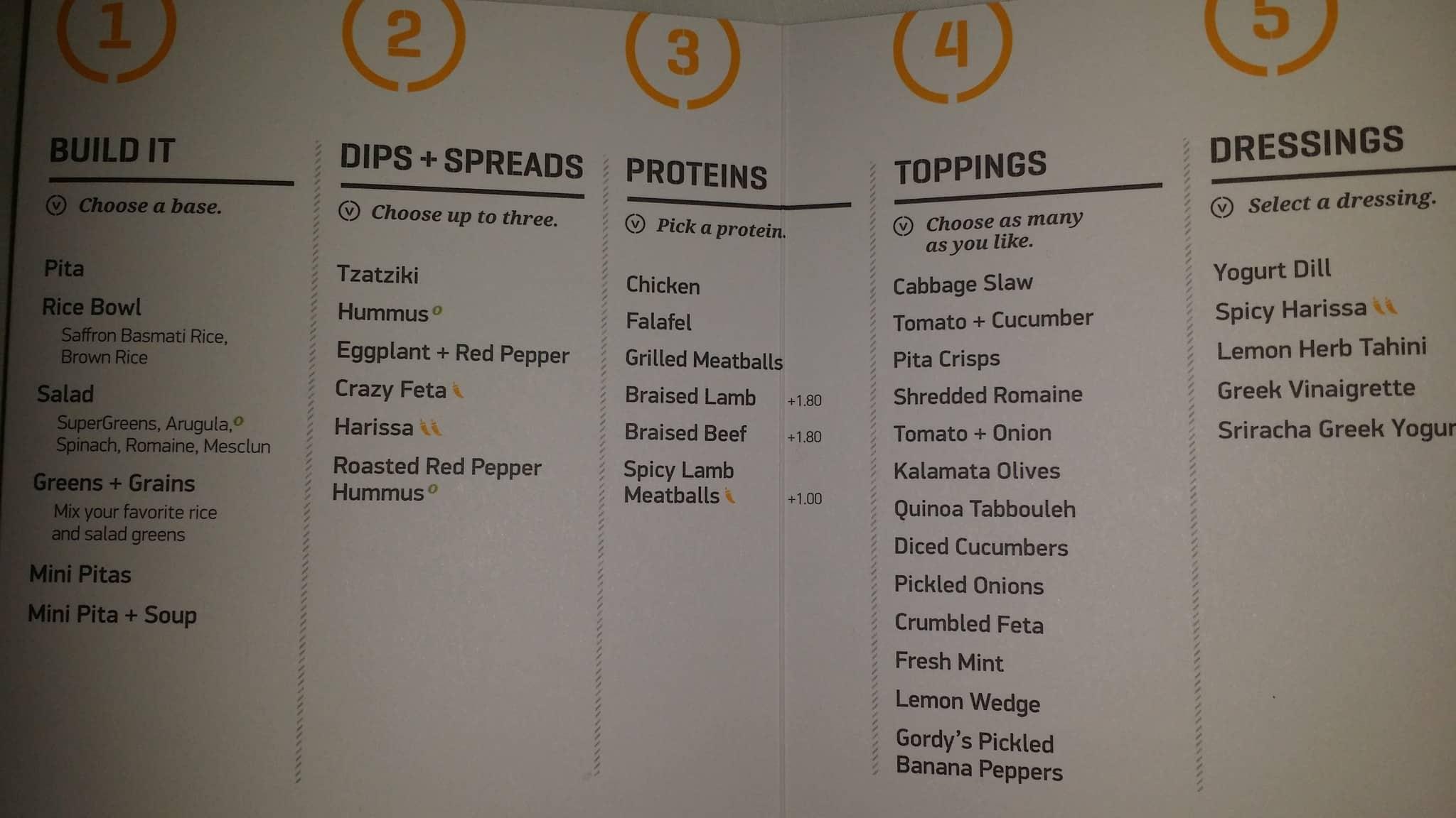 Dc Greek Food Menu