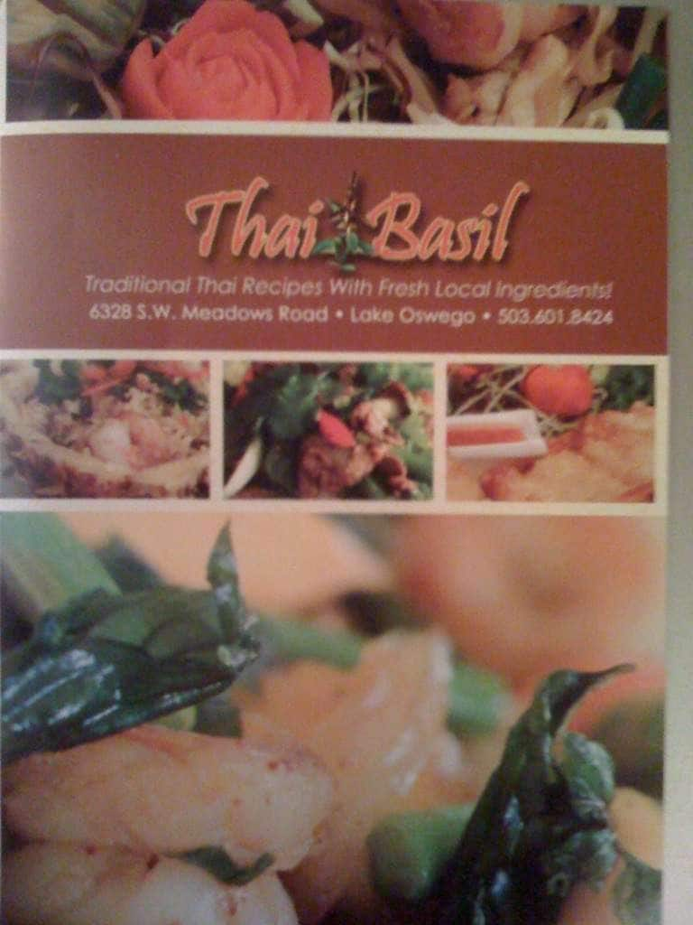 Thai Basil Menu, Menu for Thai Basil, Lake Oswego, Lake Oswego ...