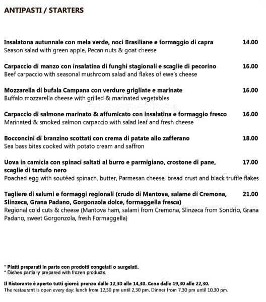 Leonardo Restaurant Radisson Blu Menu Zomato Italy