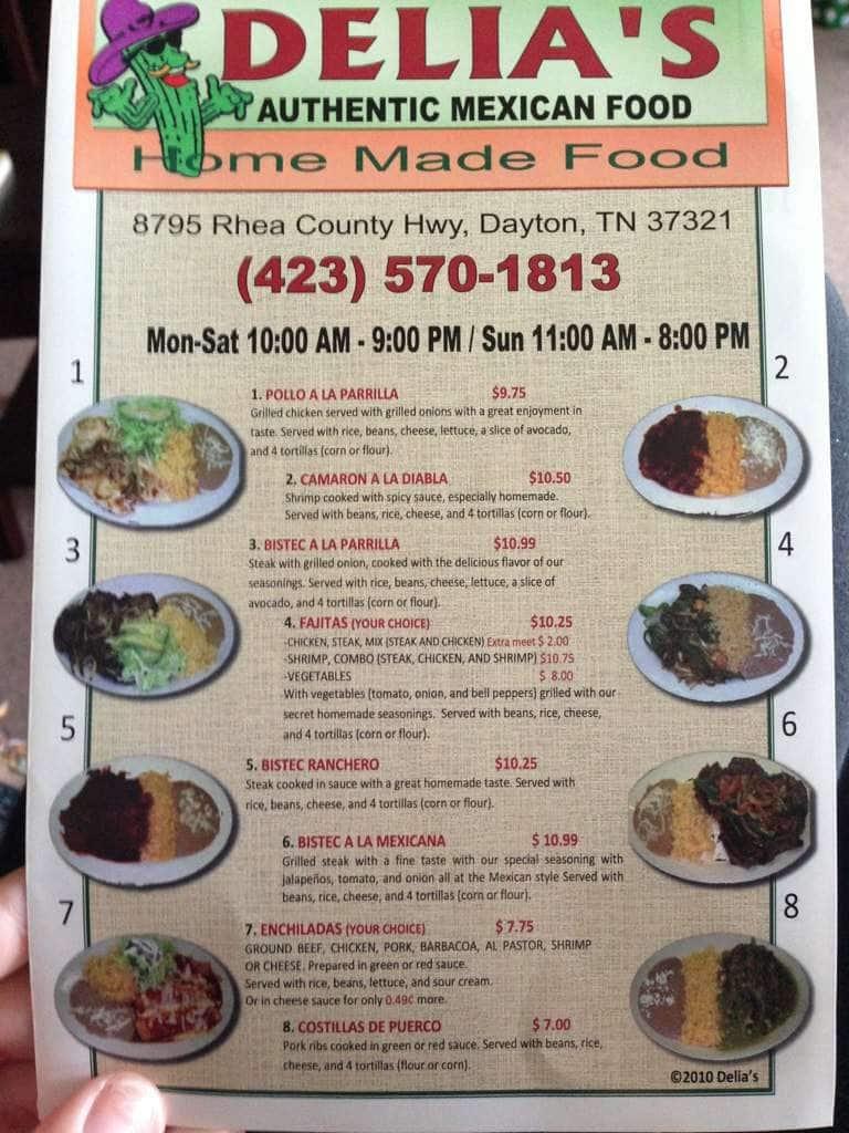 Menus Of Restaurants Nearby