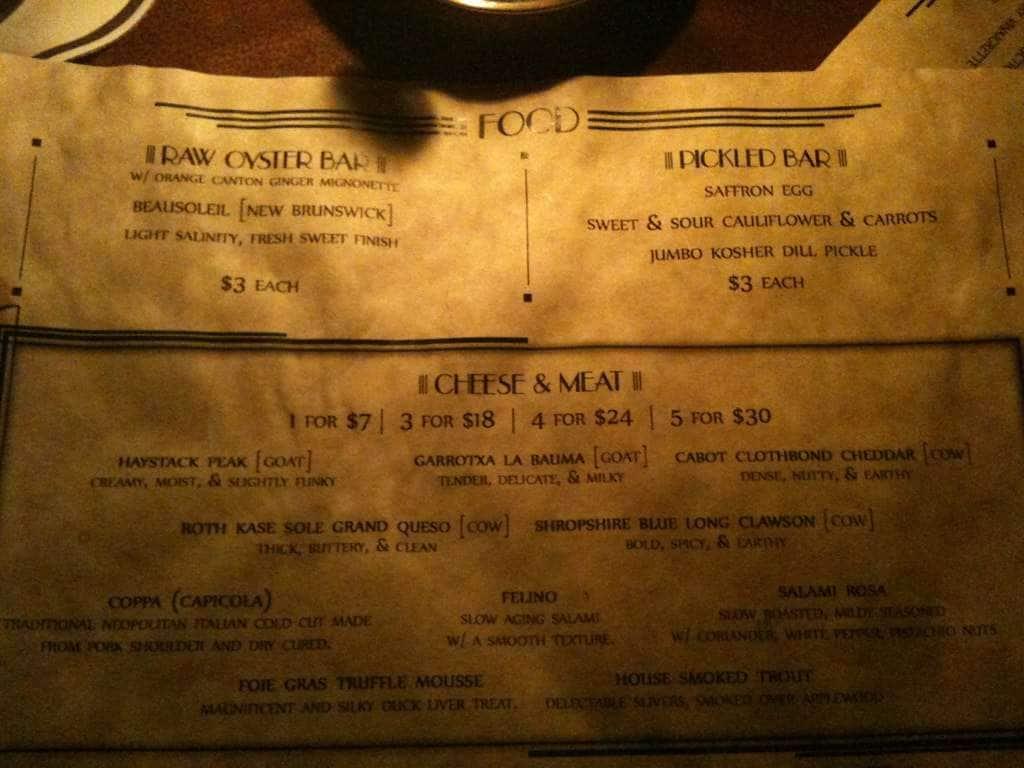 The bookstore speakeasy menu menu for the bookstore for The food bar zomato