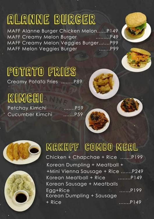 Ms. Anne Korean Healthy Food, Greater Taguig Menu
