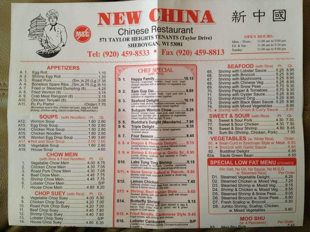 New china 8 buffet incorporated menu urbanspoon zomato for 8 cuisines of china