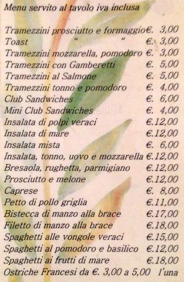 Bar Shangri La Corsetti Hotel Menu Zomato Italy