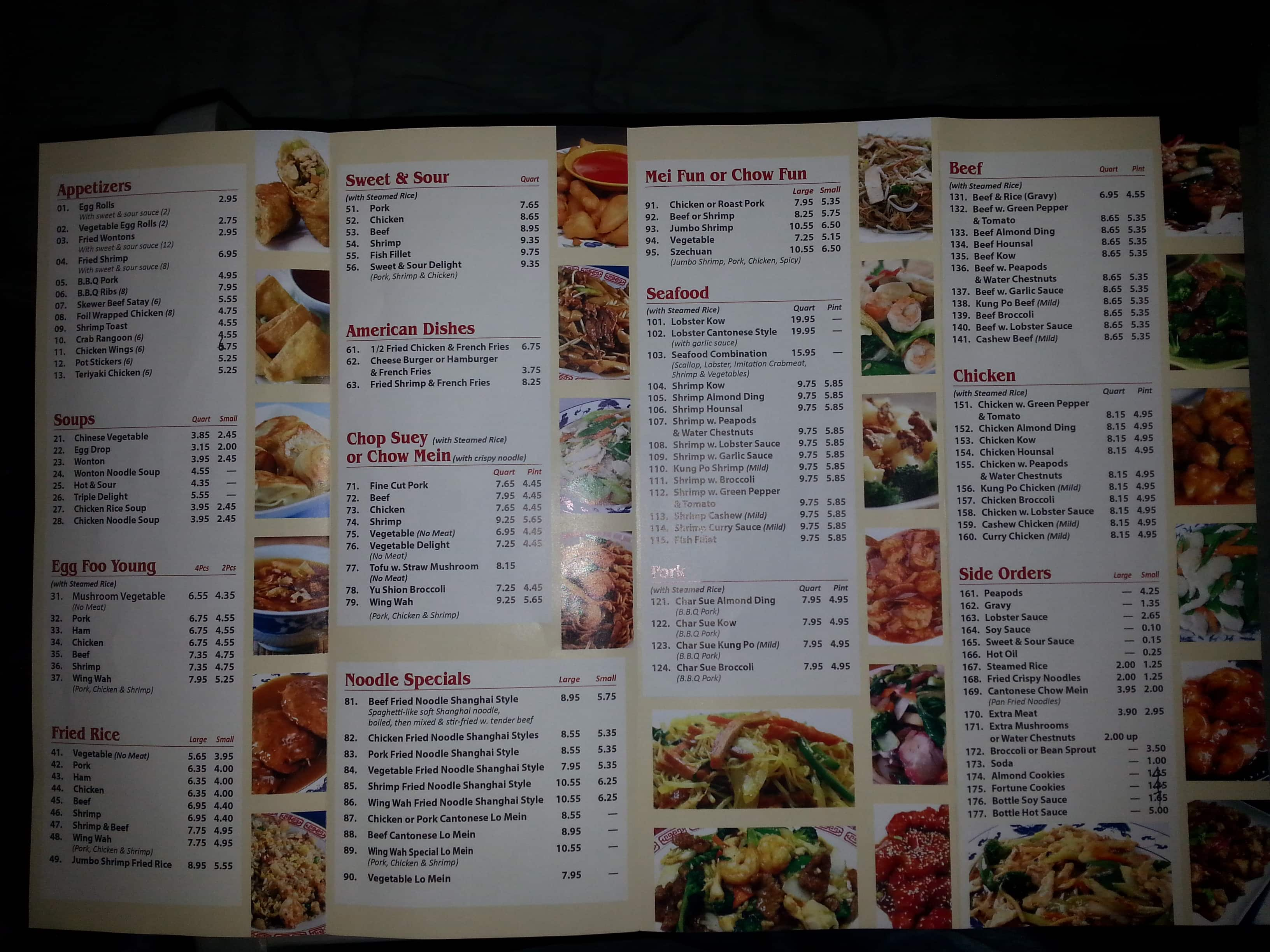 Wing Wah Restaurant Menu Menu For Wing Wah Restaurant Gary Gary