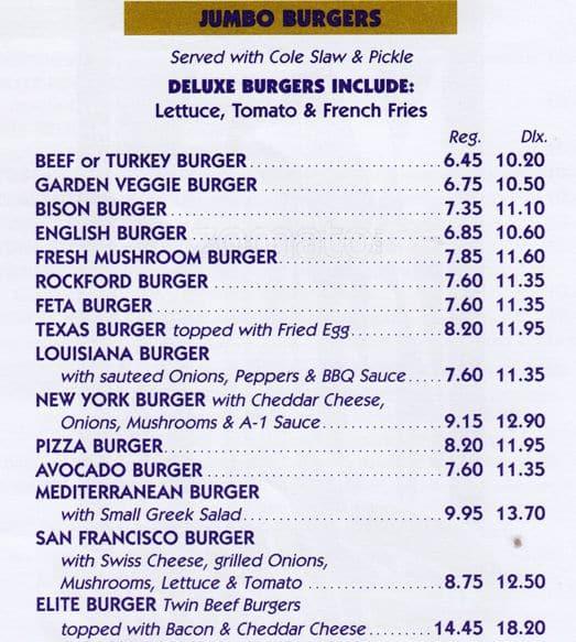 Elite food bar menu menu for elite food bar turtle bay for Elite food bar 325 east 48th street