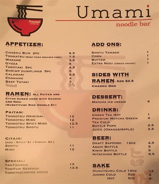 402b525da6 Umami Noodle Bar Menu
