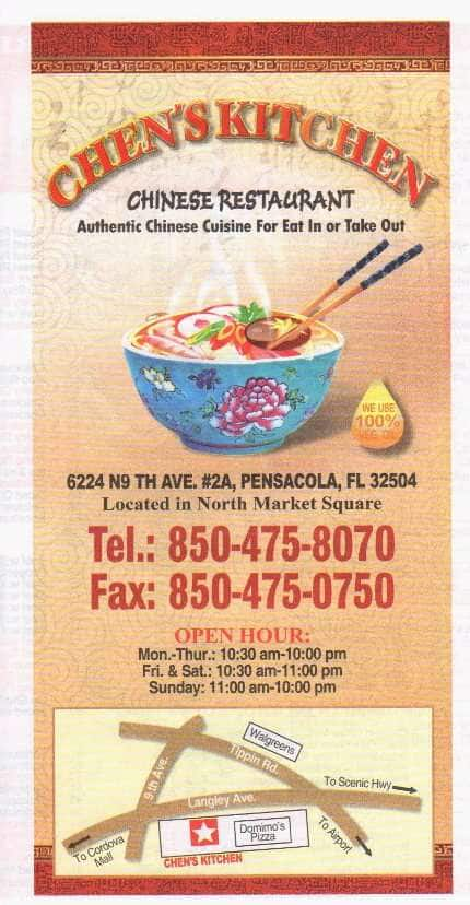 Chen 39 S Kitchen Menu Menu For Chen 39 S Kitchen Pensacola Pensacola