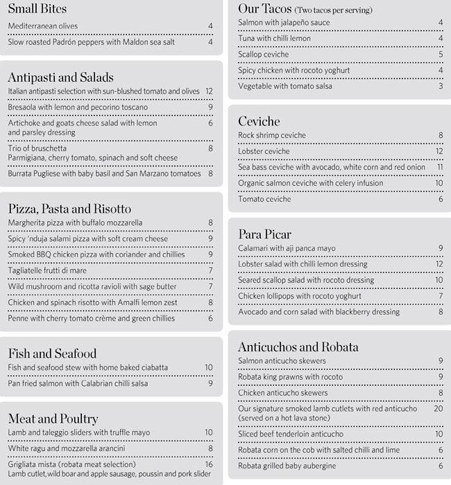 menu at monmouth kitchen, 20 mercer st - restaurant prices