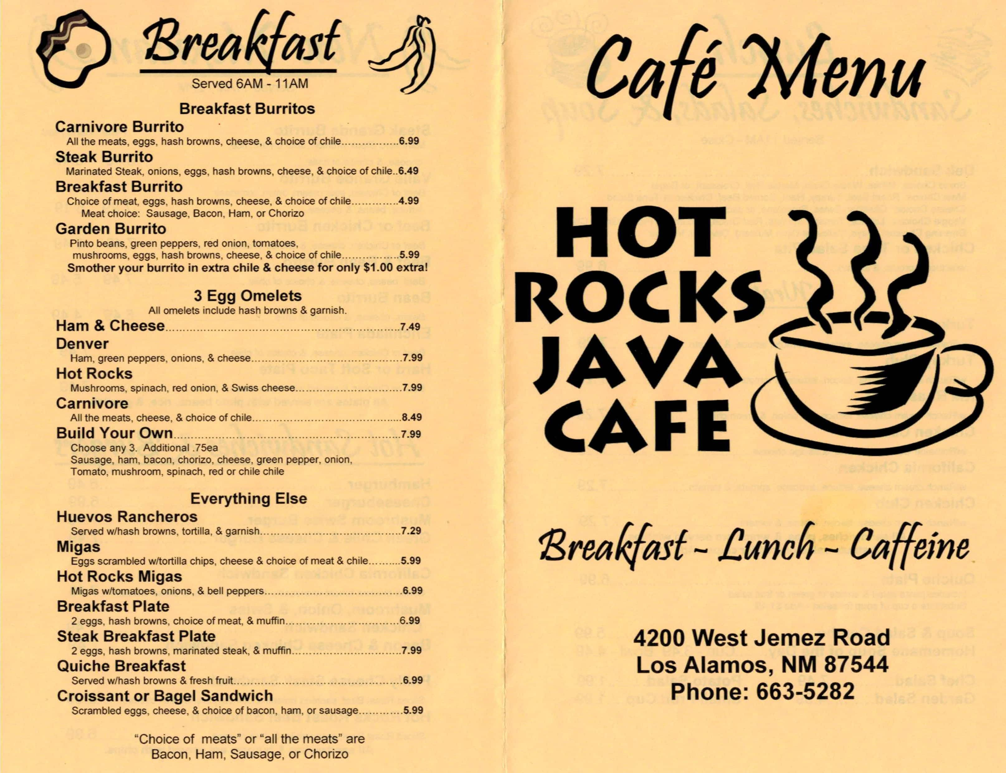 Hot Rocks Java Cafe