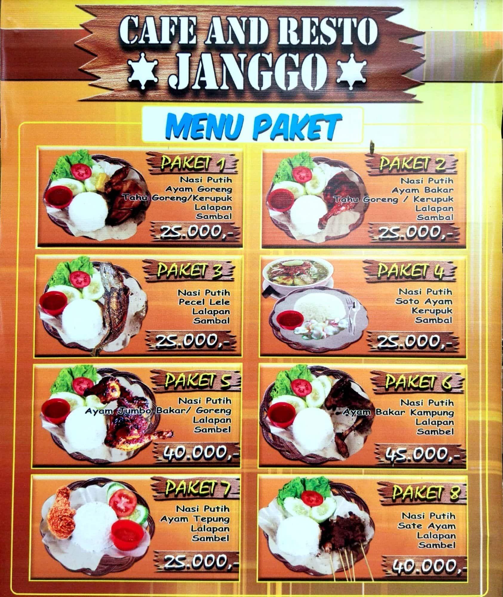 Resto Janggo Menu Menu Untuk Resto Janggo Ancol Jakarta