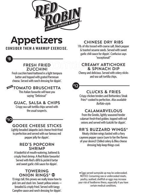 Red Robin Abbotsford Menu - View the Menu for Red Robin Abbotsford on Zomato for Delivery, Dine-out or Takeaway, Red Robin menu and prices. Red Robin Menu Serves American, Burger.