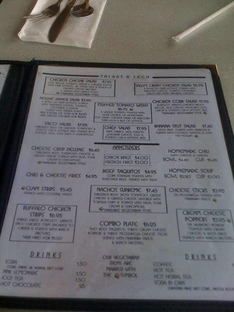 Paradise Valley Cafe Menu