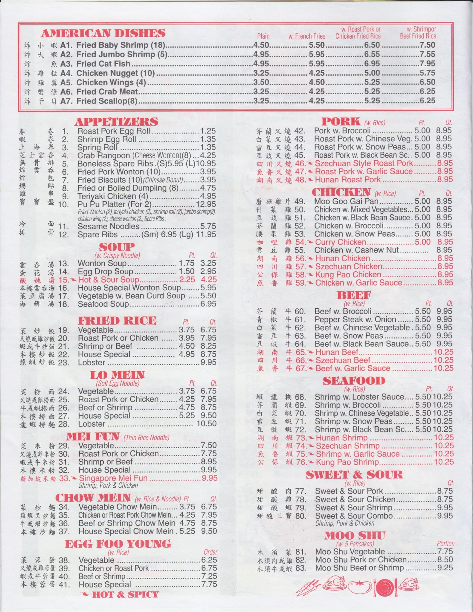 Dragon King Menu, Menu for Dragon King, Audubon, New Orleans ...