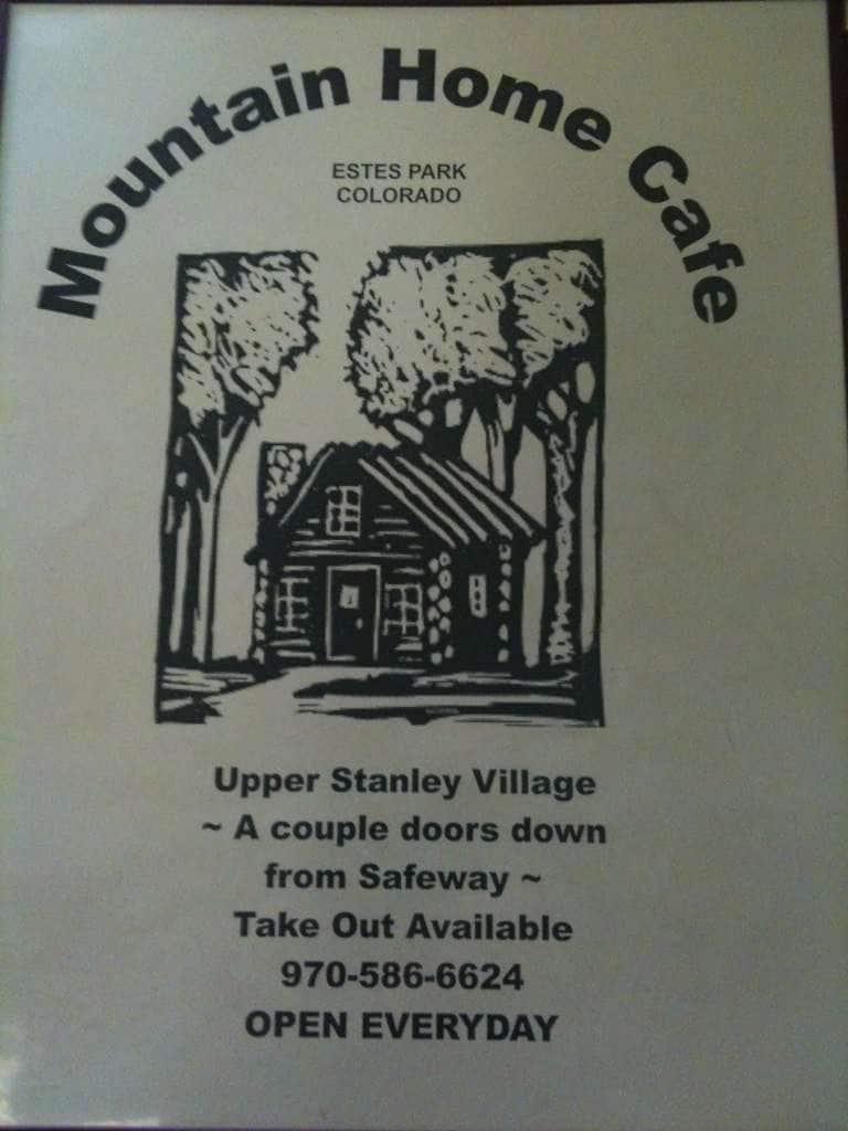 Mountain Home Cafe Estes Park Menu