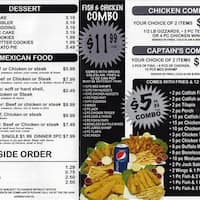 Captain hooks ashland and roosevelt chicago for Hooks fish and chicken menu