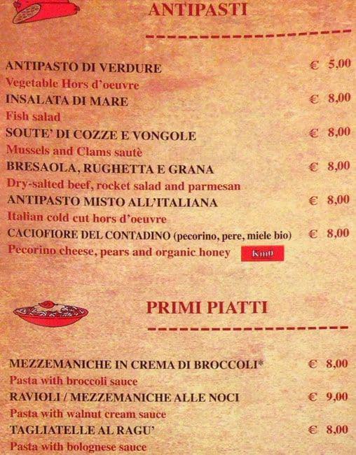 Romolo E Remo Menu Menu For Romolo E Remo San Giovanni