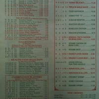Scanned Menu For Jade Garden Restaurants