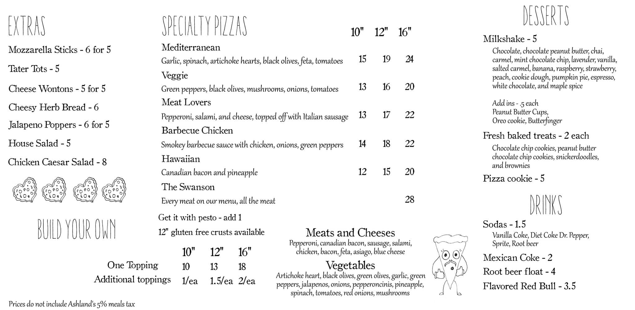 Stonetop Pizza Menu Menu For Stonetop Pizza Ashland Medford