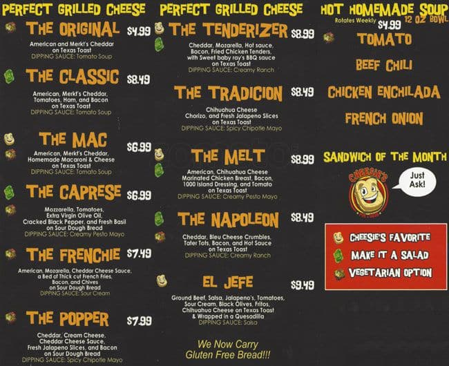 Cheesie 39 s pub grub menu urbanspoon zomato for Kitchen 88 food truck utah menu