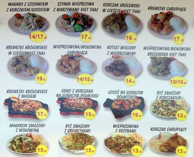 Viet Thai Menu Menu Restauracji Viet Thai Grodzisk Mazowiecki Warszawa