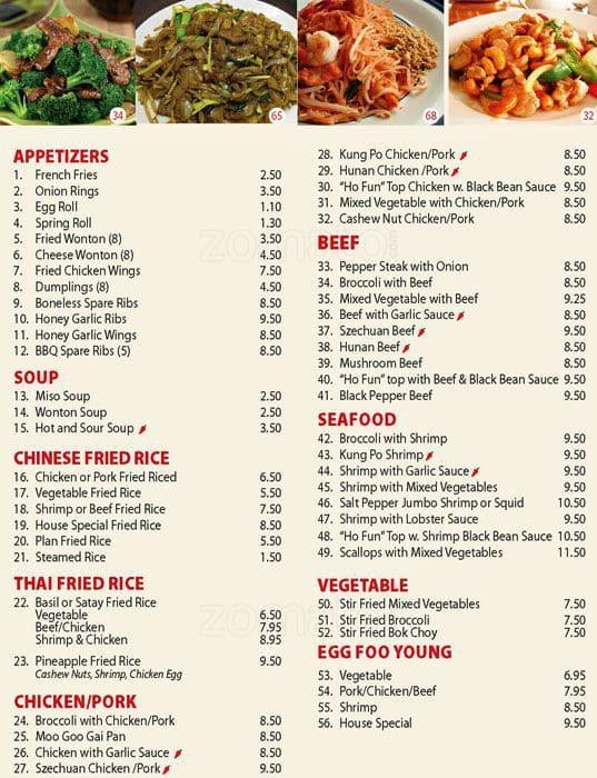 Chinese Food Oshawa Menu