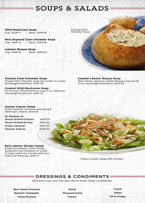 Red Lobster Menu Menu Untuk Red Lobster Fereej Bin Mahmoud Doha