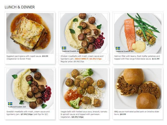 Scanned Menu For IKEA Restaurant U0026amp; ...