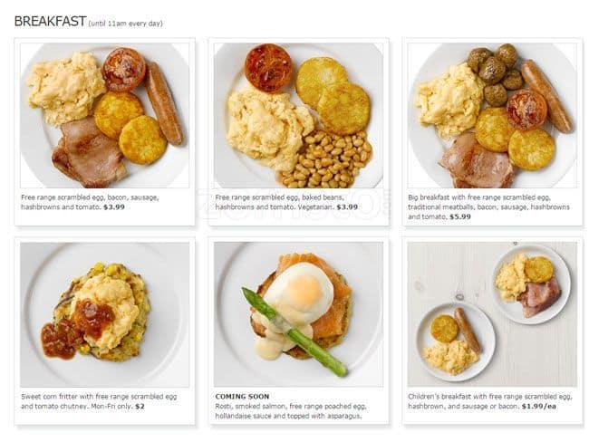 IKEA Restaurant & Café Menu - Urbanspoon/Zomato on