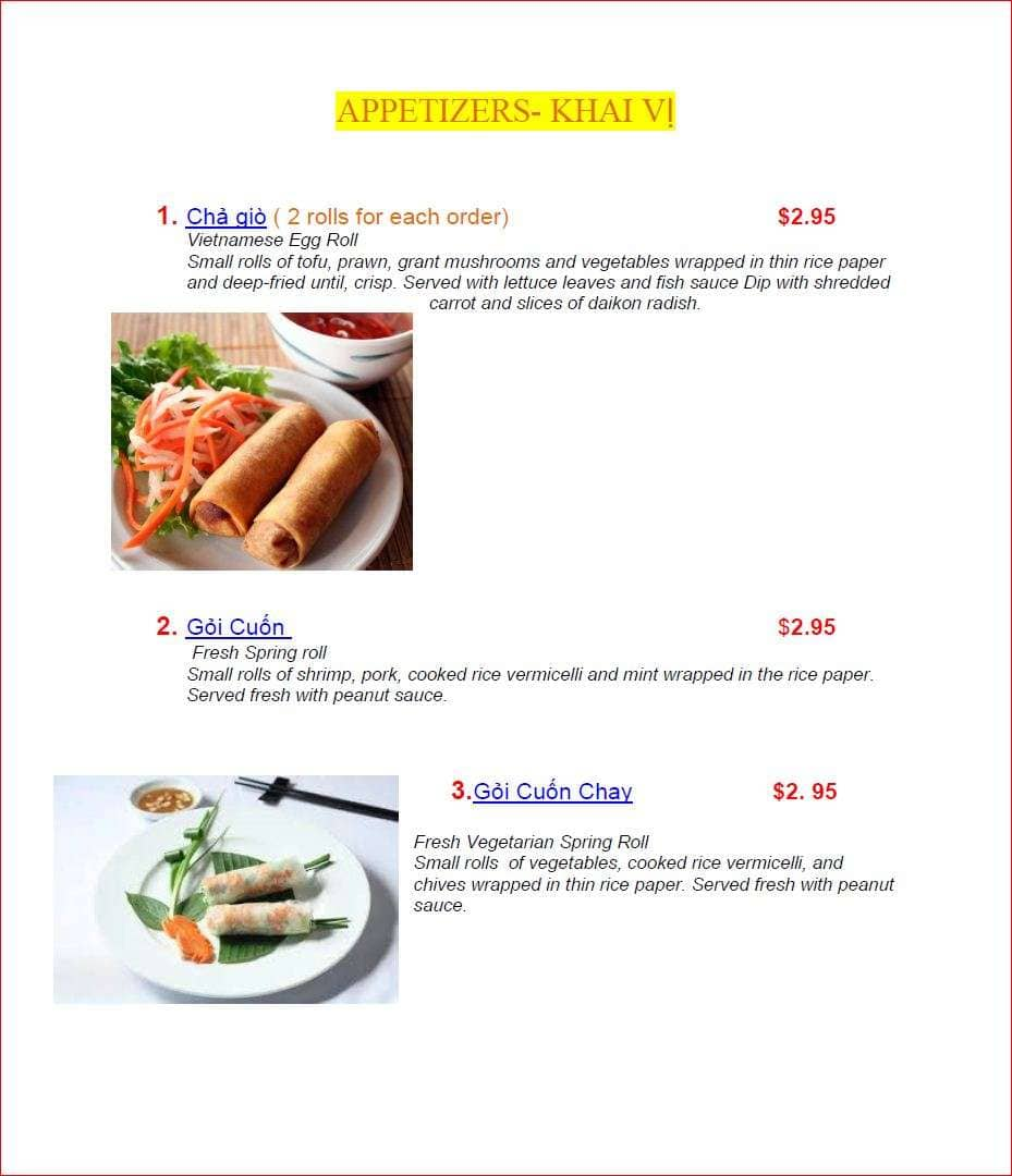 Vietnam 81 Restaurant Menu Menu For Vietnam 81 Restaurant