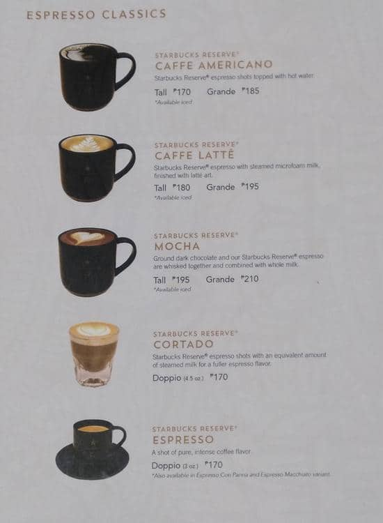 Starbucks Coffee Menu Philippines - How Do You Get V Bucks ...