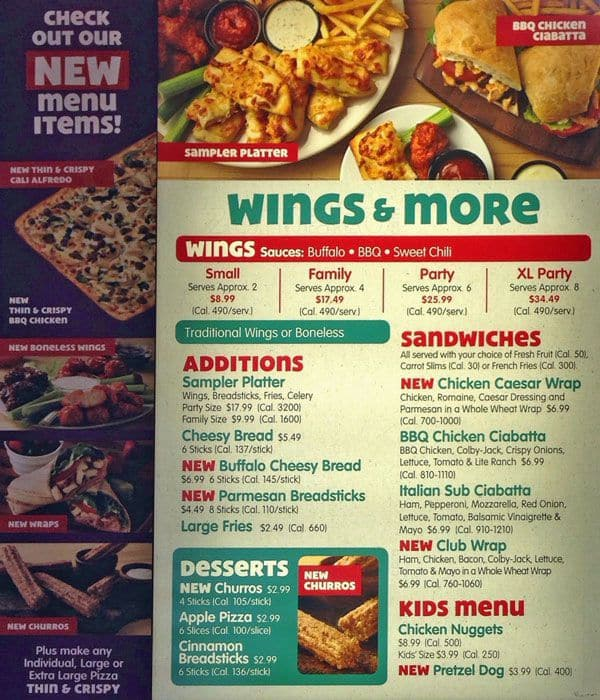 Chuck E Cheeses Menu Menu for Chuck E Cheeses Englewood Denver