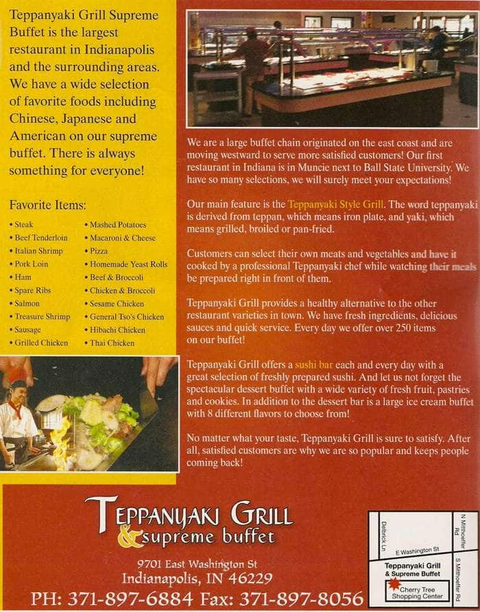 teppanyaki grill supreme buffet menu urbanspoon zomato rh zomato com teppanyaki grill supreme buffet lunch price teppanyaki grill and buffet laurel prices