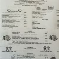 Scanned Menu For Olde Towne Pancake House