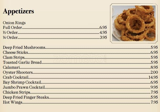 Saylers Country Kitchen Menu
