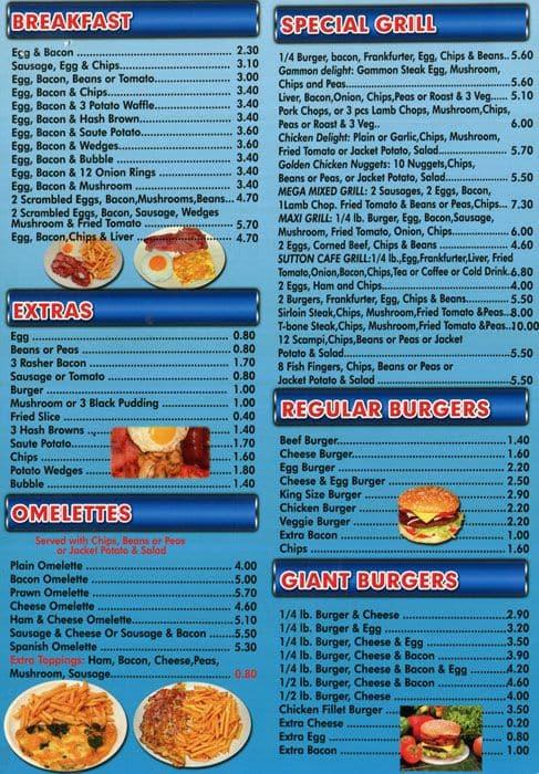 Tesco Cafe Menu Prices