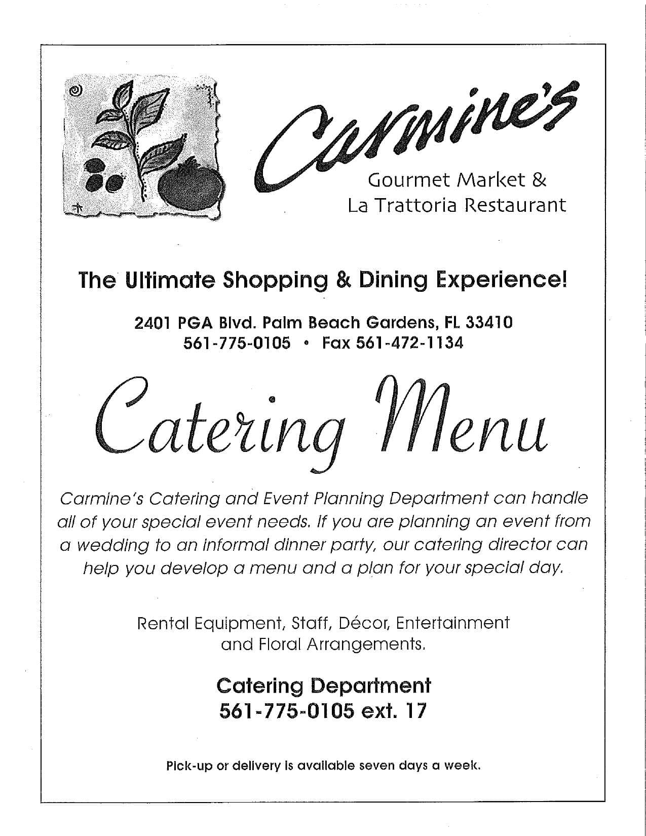 ed09f490b3a09c7cd5732cfb8b3a4366 - Carmines Catering Menu Palm Beach Gardens