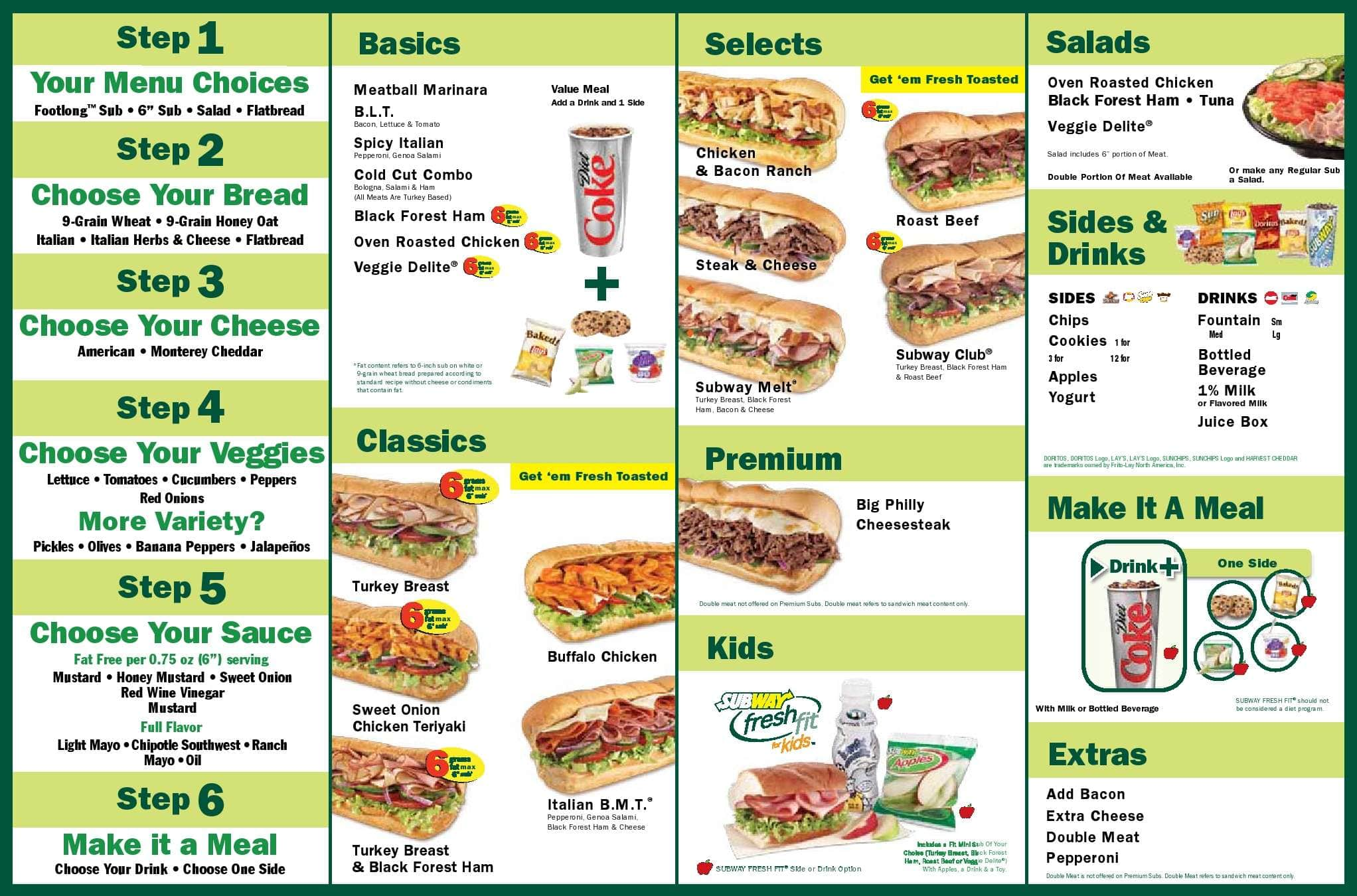image relating to Subway Menu Printable named Menu at SUBWAY instant foodstuff, Weston, 292 Indian Hint