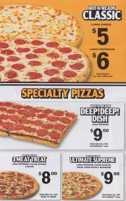 Little Caesars Pizza Elmhurst Menu