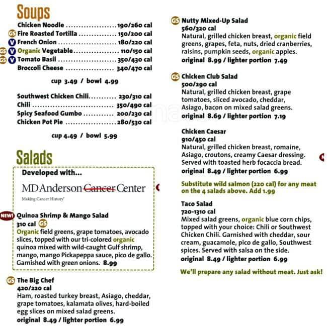 Native Foods Cafe Menu Menu For Native Foods Cafe Washington