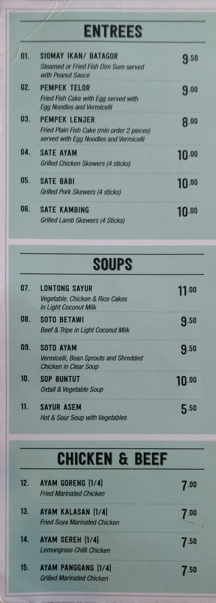 Betawi\'s Kitchen Menu, Menu for Betawi\'s Kitchen, Maroubra, Sydney ...