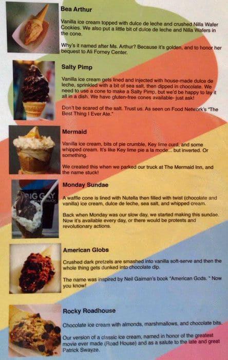 Big gay ice cream shop menu menu for big gay ice cream shop east big gay ice cream shop menu ccuart Gallery