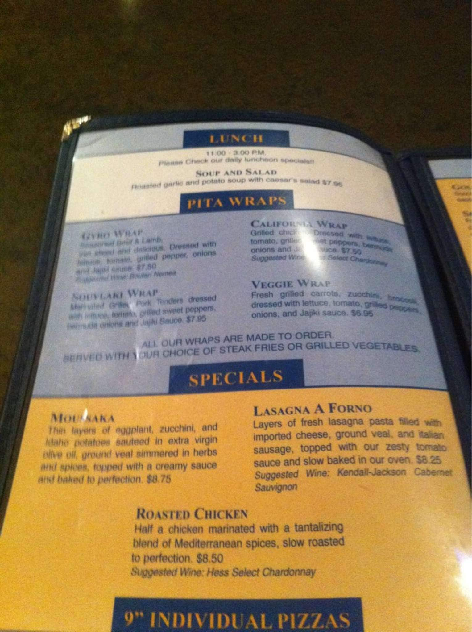 Acropolis cuisine menu menu for acropolis cuisine for Acropolis cuisine metairie menu