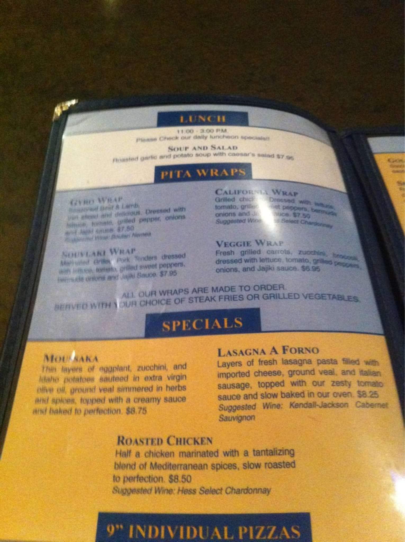 Acropolis cuisine menu menu for acropolis cuisine for Acropolis cuisine metairie