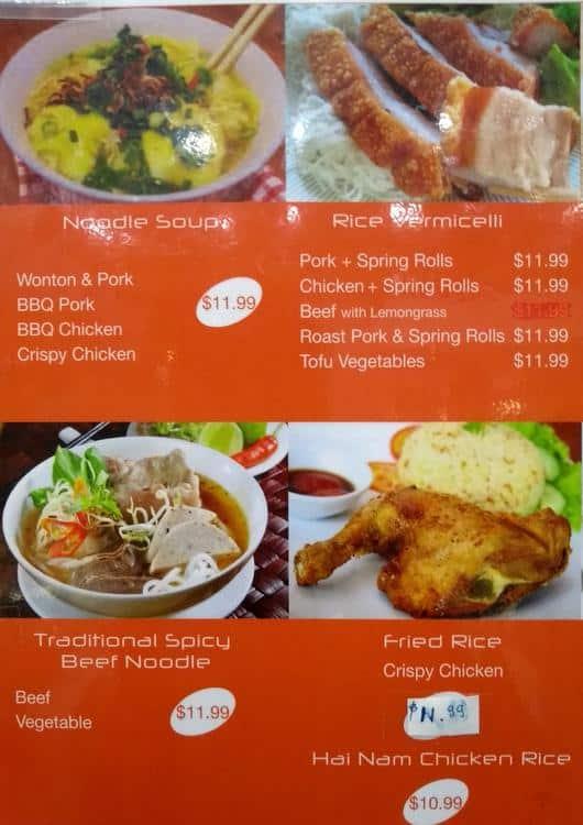 Km Pho Kitchen Menu Menu For Km Pho Kitchen Burwood East