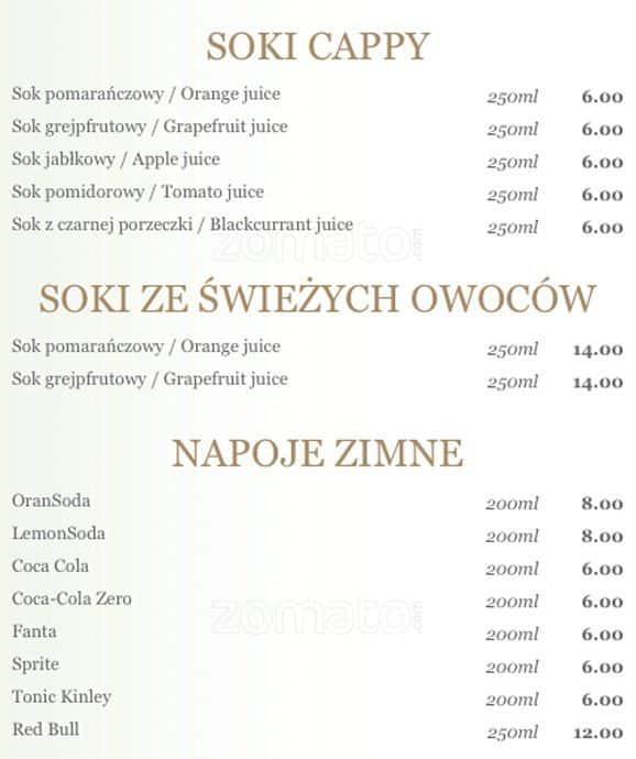 La cucina menu menu restauracji la cucina r dmie cie for Z cucina menu